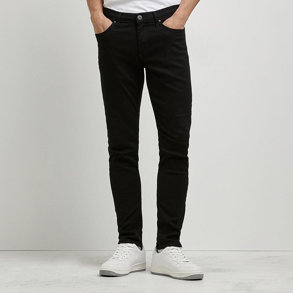 Jeans Hombre Sid River Island Negro Skinny 1tSxtzT
