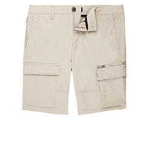 Stone skinny cargo shorts