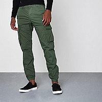 Pantalon de jogging cargo vert kaki