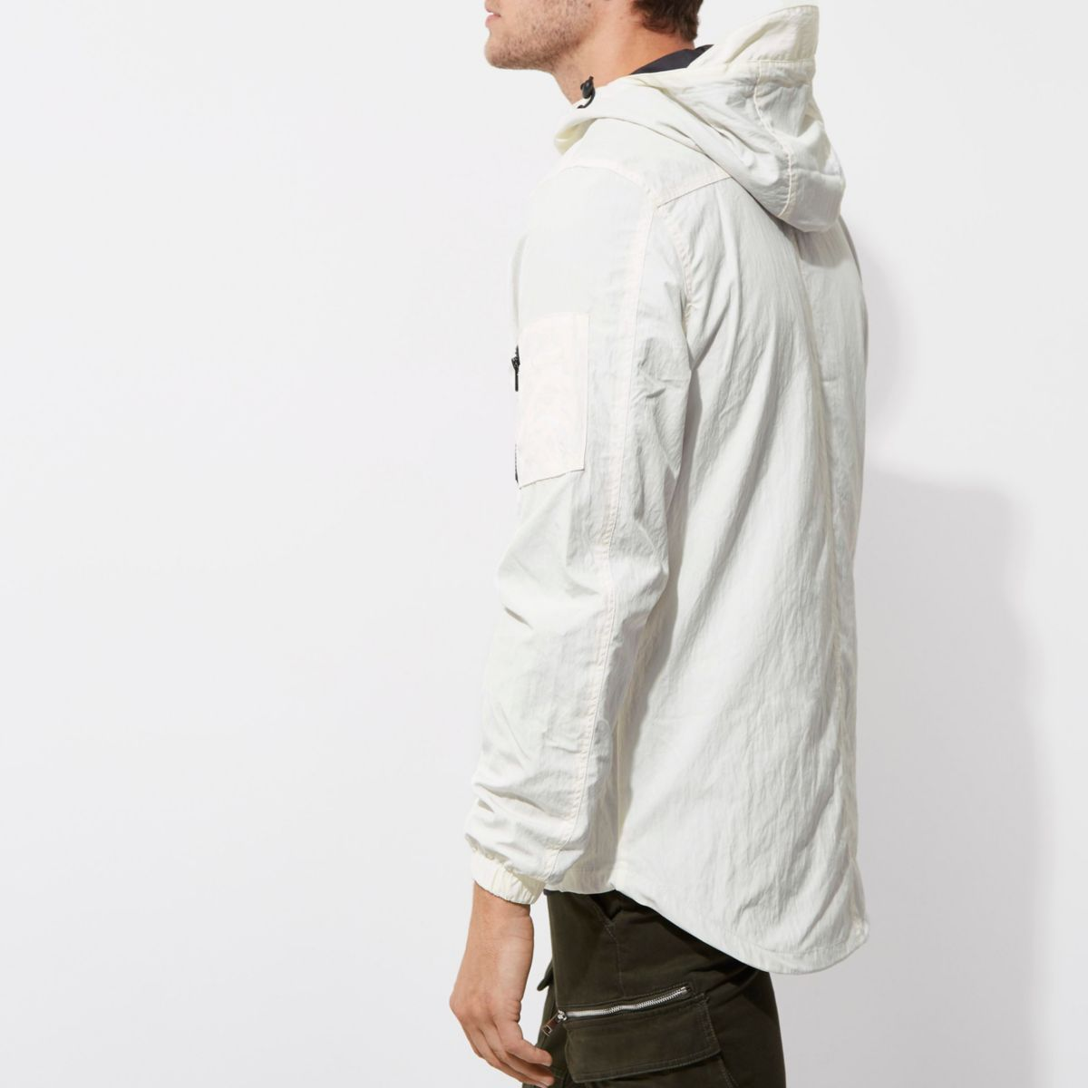 White Hooded Lightweight Jacket by River Island
