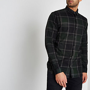 Chemise Jack & Jones Premium marron à carreaux