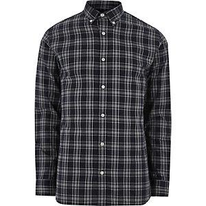 Marineblauw geruit Jack & Jones Premium overhemd