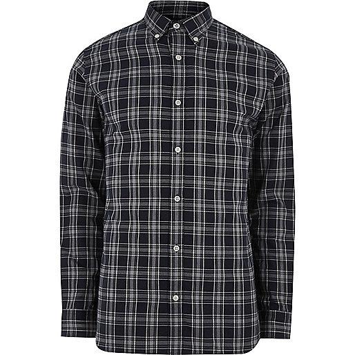 Navy Jack & Jones Premium check shirt