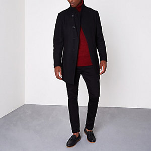 Jack & Jones Premium black wool blend coat