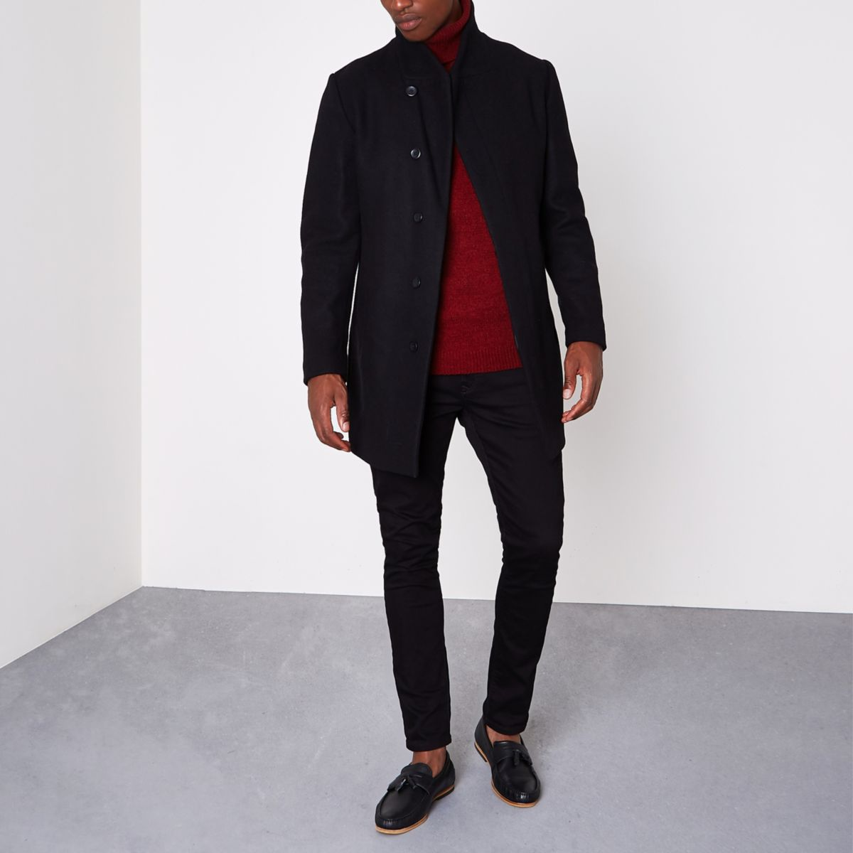 Black Jack & Jones Premium wool blend coat