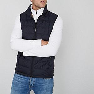 Navy Jack & Jones Premium puffer vest