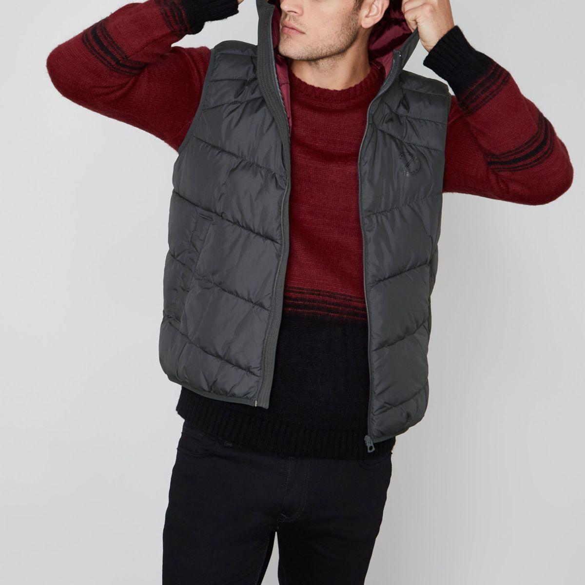 Jack & Jones Premium black puffer vest