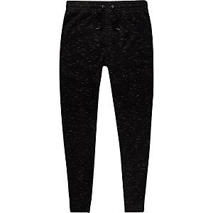 Schwarze Muscle Fit Jersey-Jogginghose