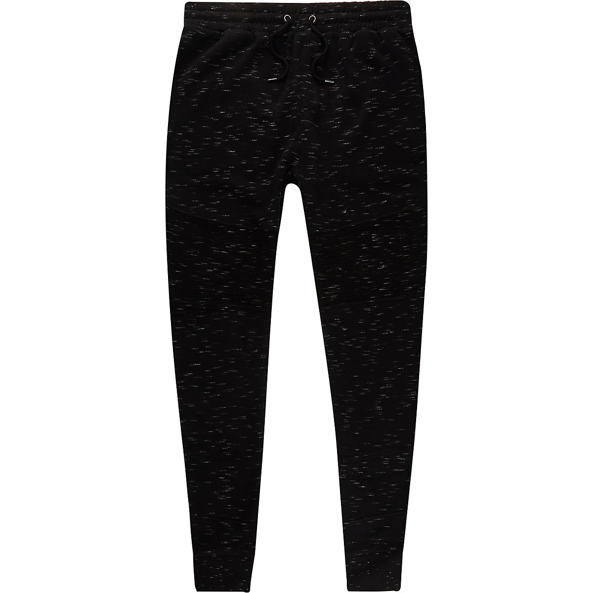 Black muscle fit jersey joggers