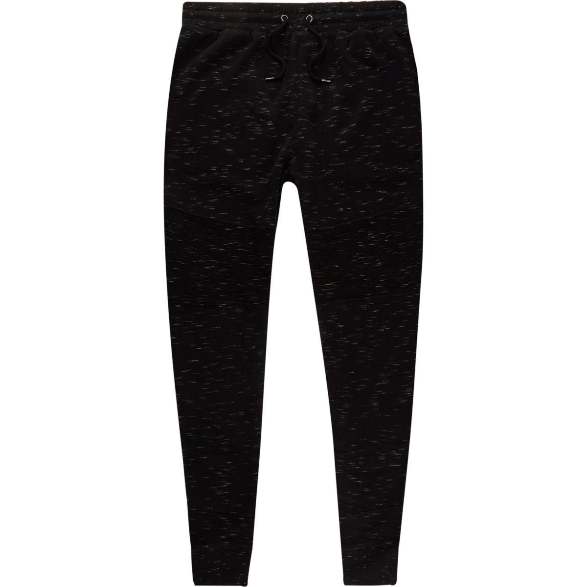 Zwarte aansluitende jersey joggingbroek