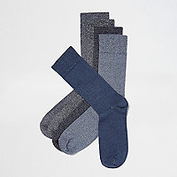 Blue and grey socks multipack