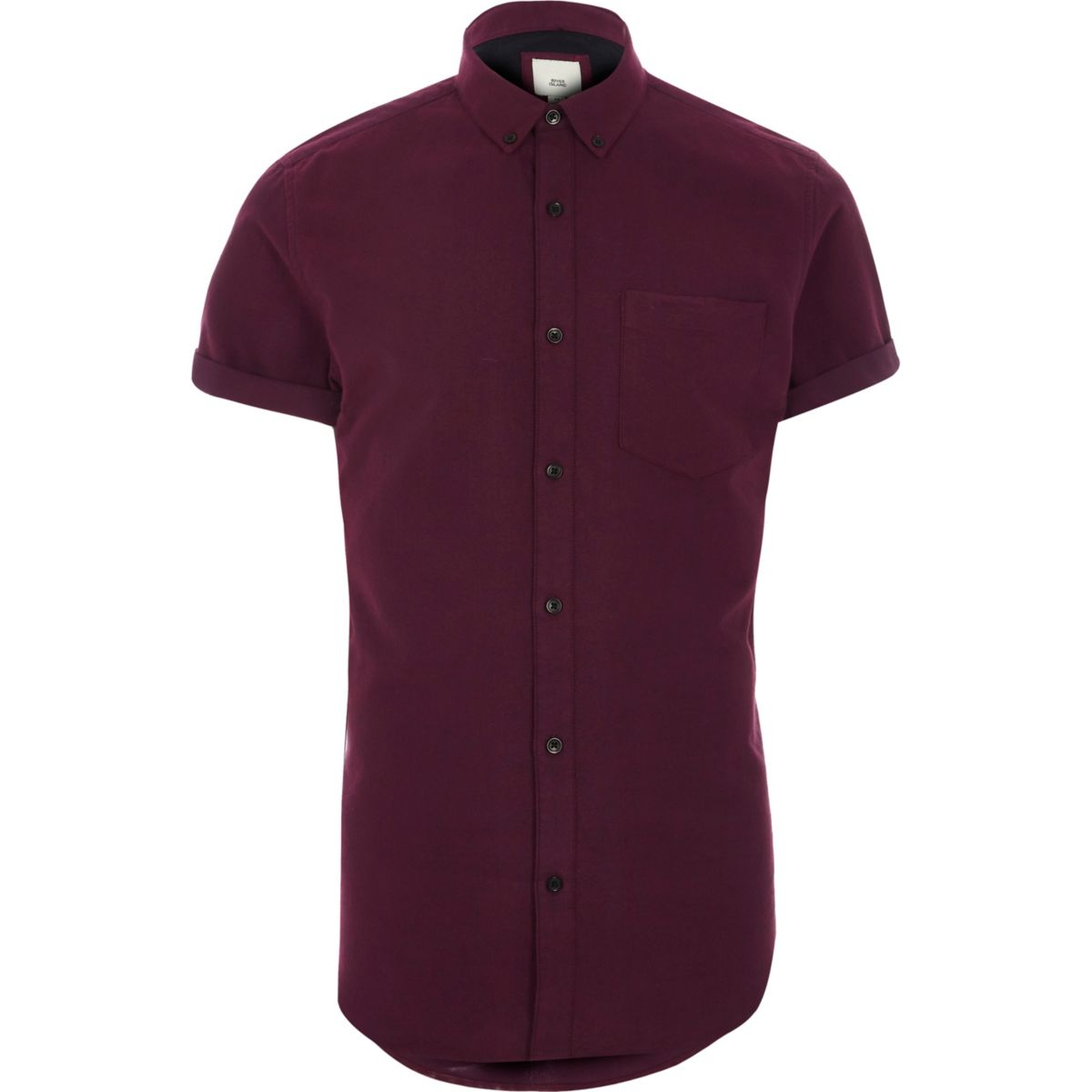 burgundy short sleeve slim fit oxford shirt shirts