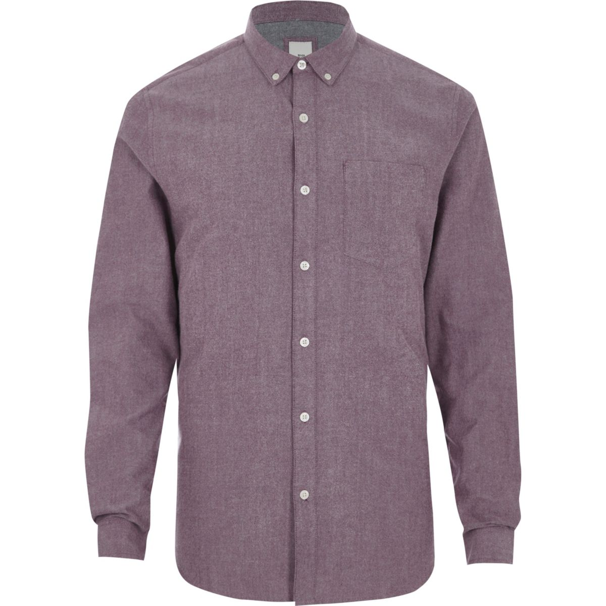 Blue button down casual oxford shirt long sleeve shirts for Oxford long sleeve button down shirt