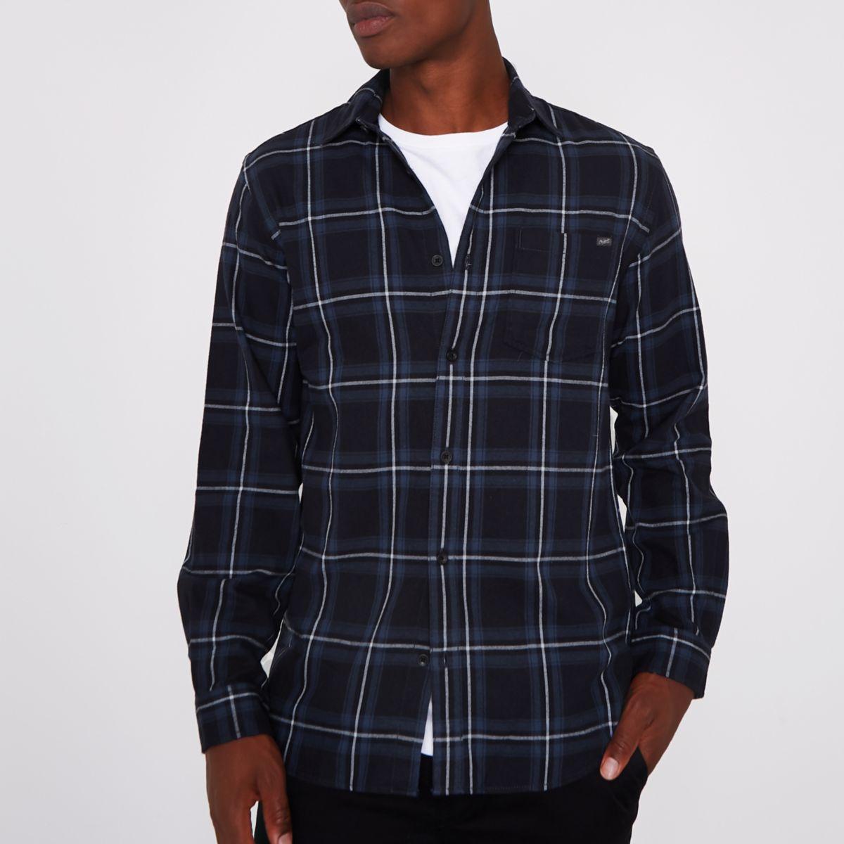 Jack & Jones - Chemise à carreaux noire