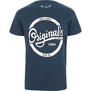 Navy Jack & Jones printed T-shirt