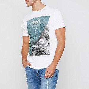 White Jack & Jones Originals city T-shirt