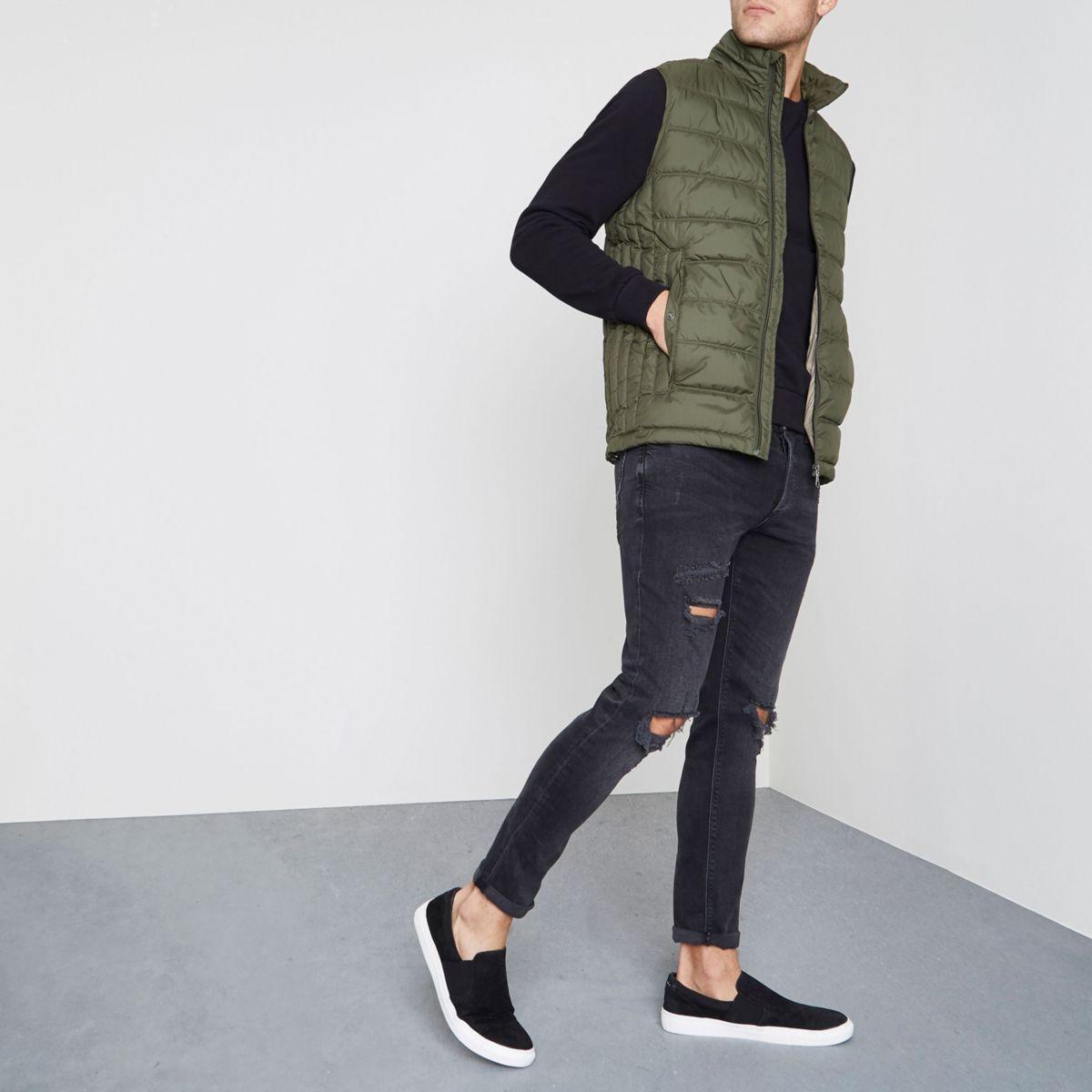 Green Jack & Jones Premium puffer vest