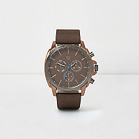 Brown copper case watch