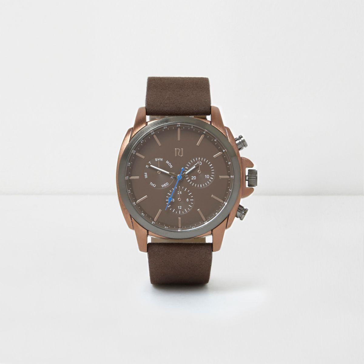 Brown copper case watch