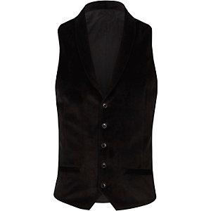 Schwarze, elegante Weste mit Revers