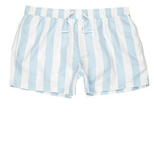 Light blue stripe swim trunks