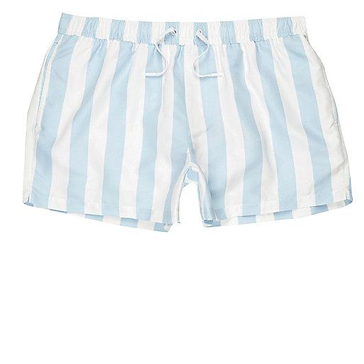 Light blue stripe swim shorts
