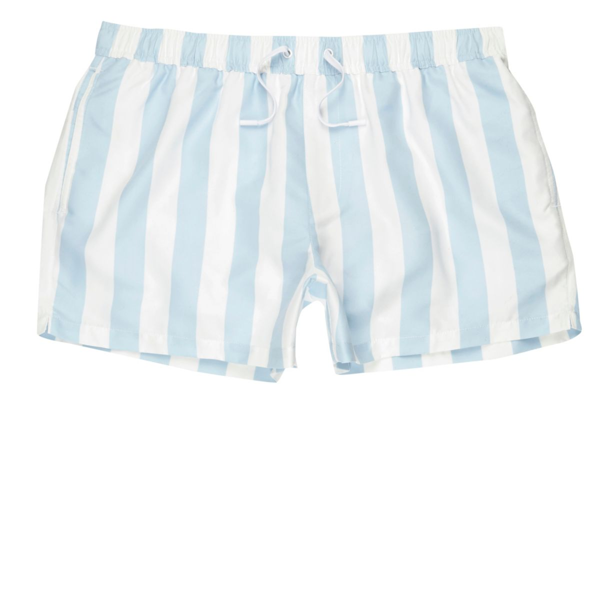 Light blue stripe swim shorts
