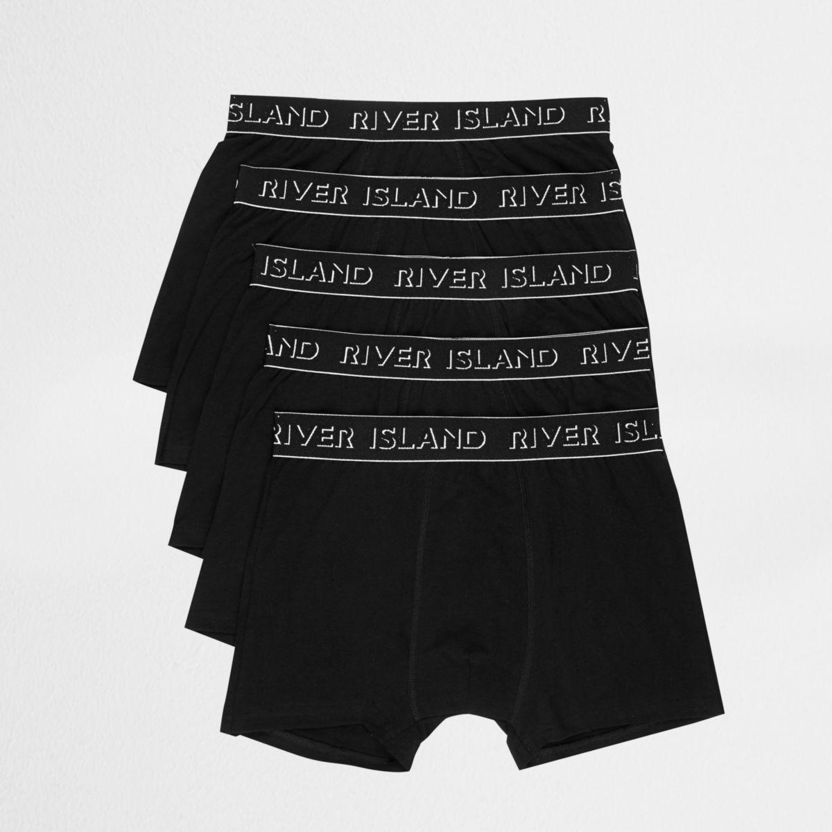 Multipack zwarte strakke boxers met RI-logo