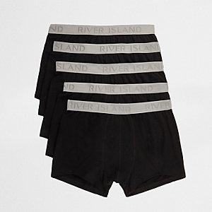 Multipack zwarte hipsters met tailleband met RI-logo