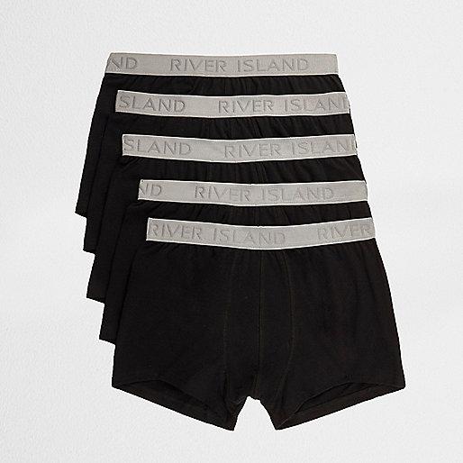 Black RI branded waistband hipster multipack