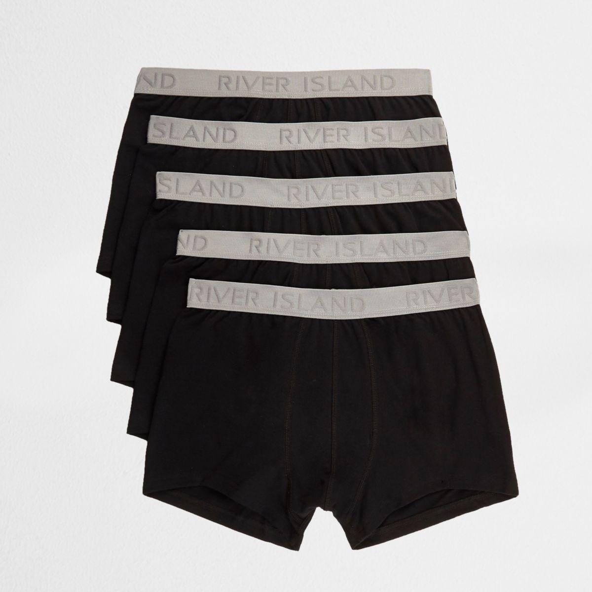 Schwarze Hipster-Slips, Multipack