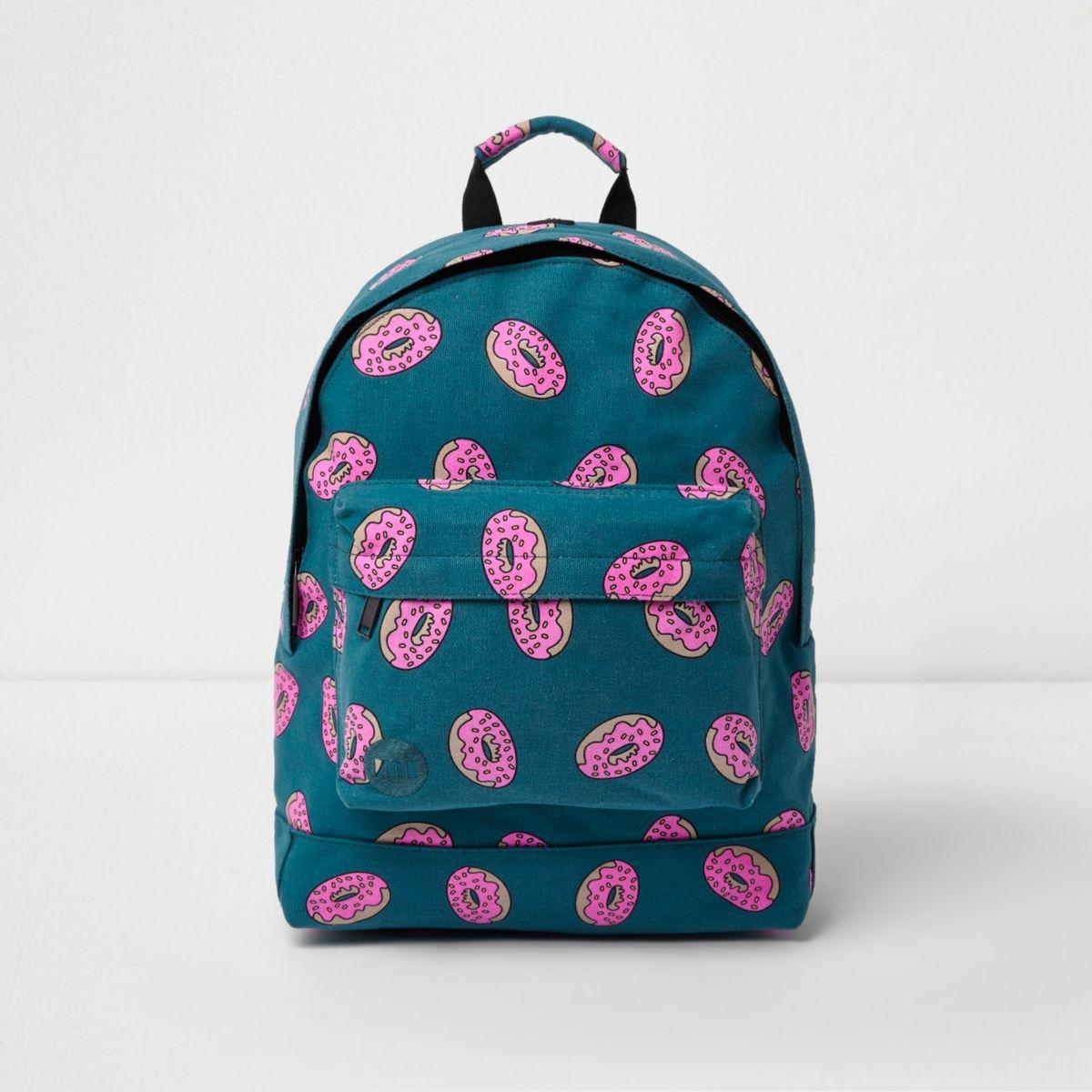 Blue Mi-Pac doughnut print backpack