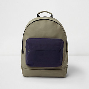 Mi-Pac – Rucksack mit Kontrastfach in Khaki