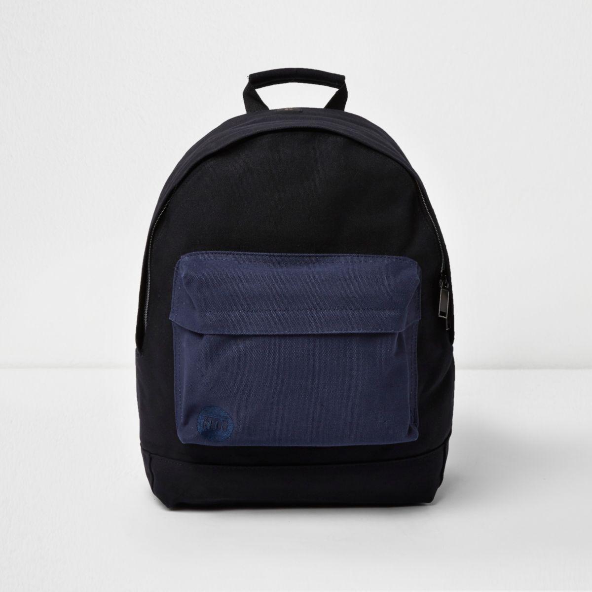 Black Mi-Pac contrast pocket backpack