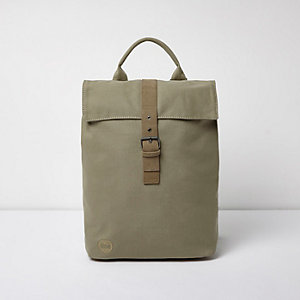 Khaki green Mi-Pac flap top backpack