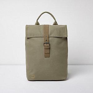 Khaki green Mi-Pac flap top backpack