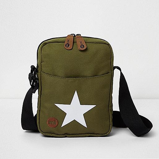 Dark green Mi-Pac star flight bag
