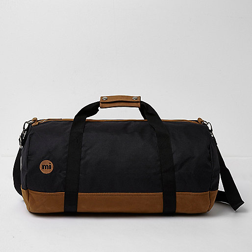Black and tan Mi-Pac duffle holdall
