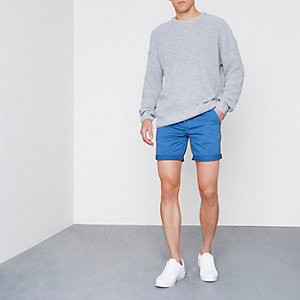 Blue chino shorts