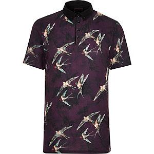 Kurzärmeliges Hemd mit Vogelmuster