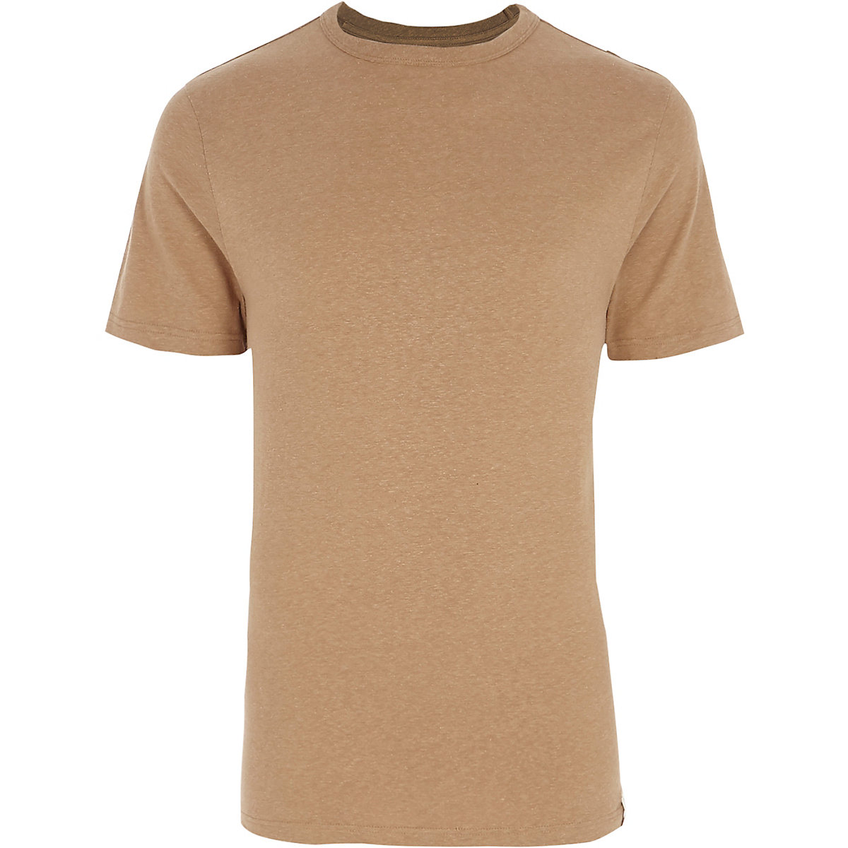 Camel slim fit crew neck T-shirt