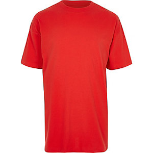 Big and Tall – T-shirt rouge oversize