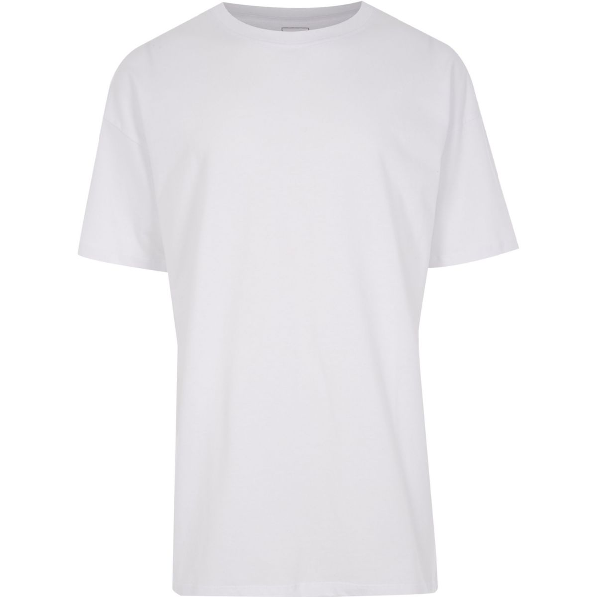 Big and Tall white oversize fit T-shirt