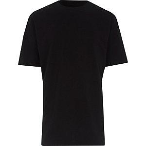 Big and Tall – T-shirt noir oversize