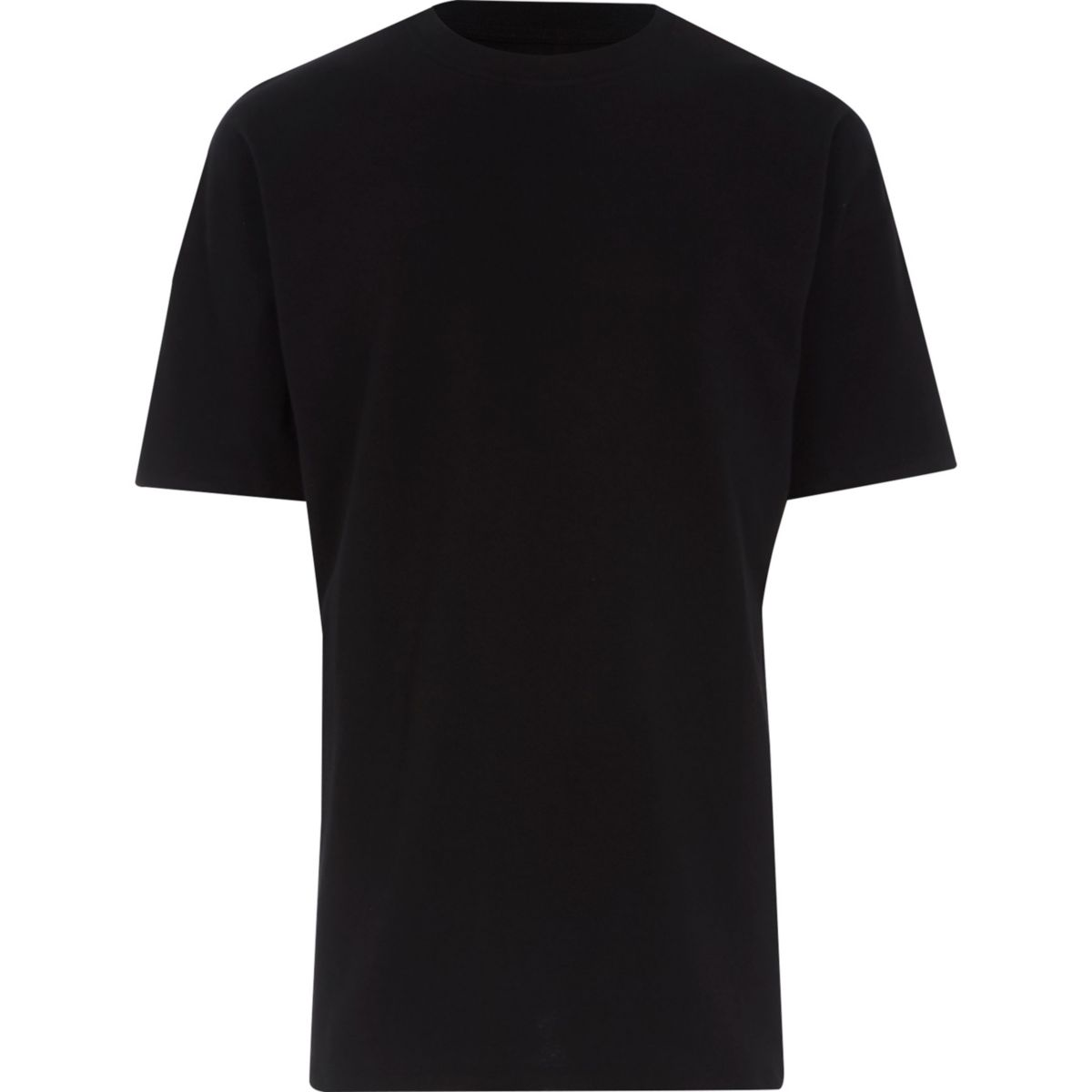 Big and Tall black oversize fit T-shirt