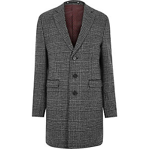 Grey heritage check smart coat