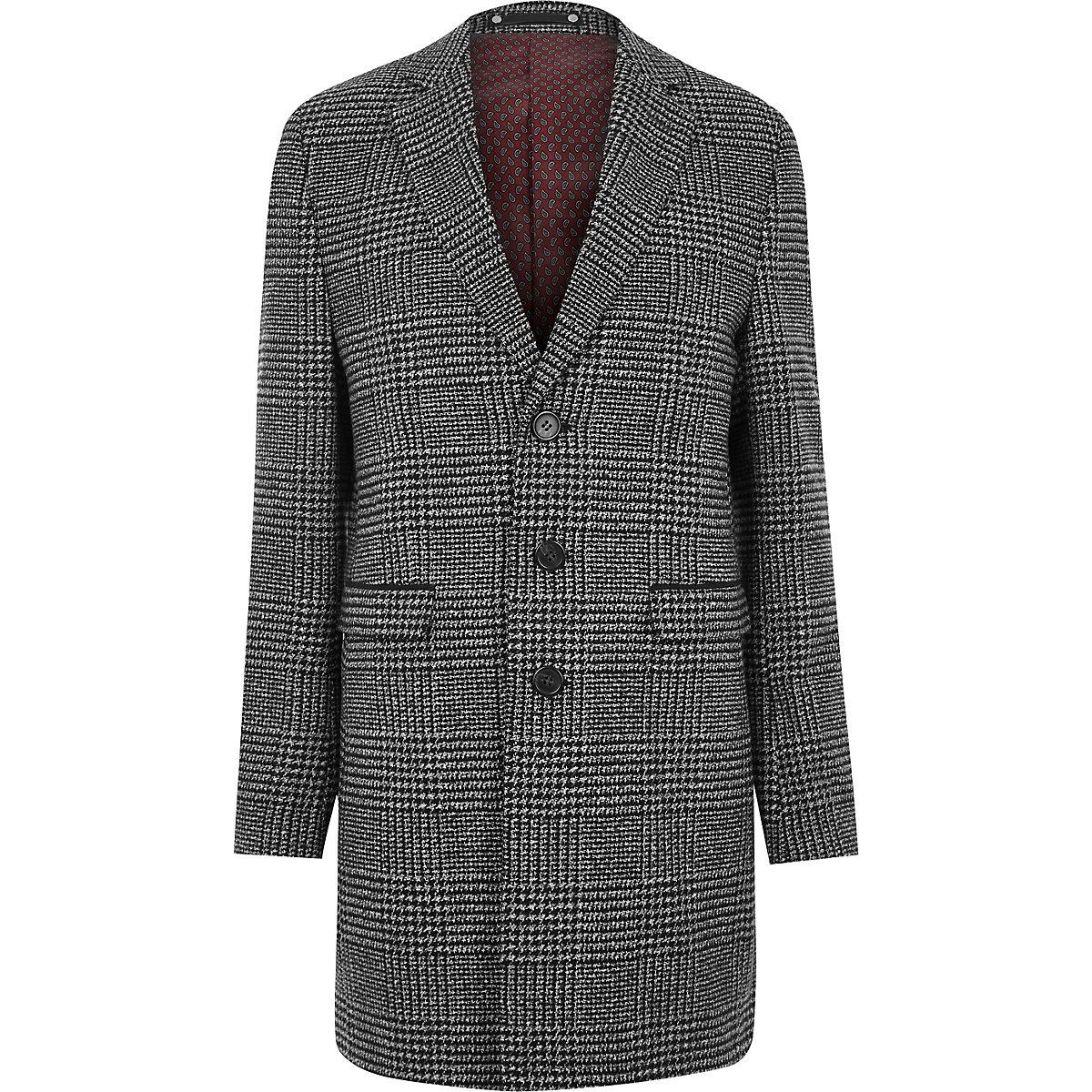Grey heritage check smart coat