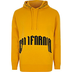Dark yellow 'California' hoodie