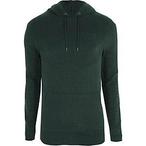 Bosgroene aansluitende hoodie