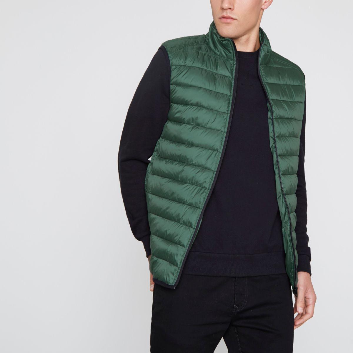 Dark green puffer gilet